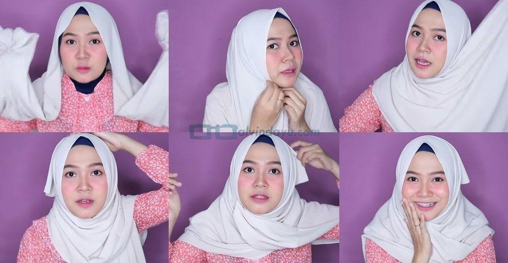 Tutorial Hijab Pashmina Simple Untuk Muka Bulat Blog Lif Co Id