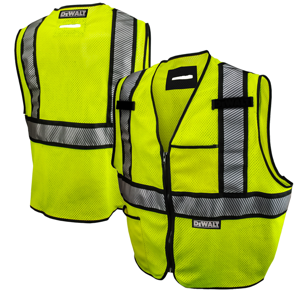 Dewalt Dsv971 Class 2 Contrasting Fr Mesh Hivis Safety Vest