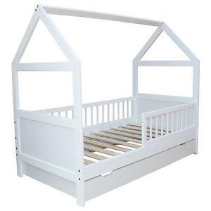 kinderbett juniorbett haus 140 x 70 cm oder 160 x 70 cm in 2 farben kinderzimmer pinterest. Black Bedroom Furniture Sets. Home Design Ideas