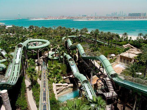 AQUAVENTURE Atlantis Hotel Dubai Water Slides
