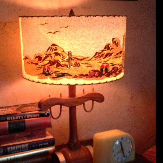 Vintage Western Lamp ~