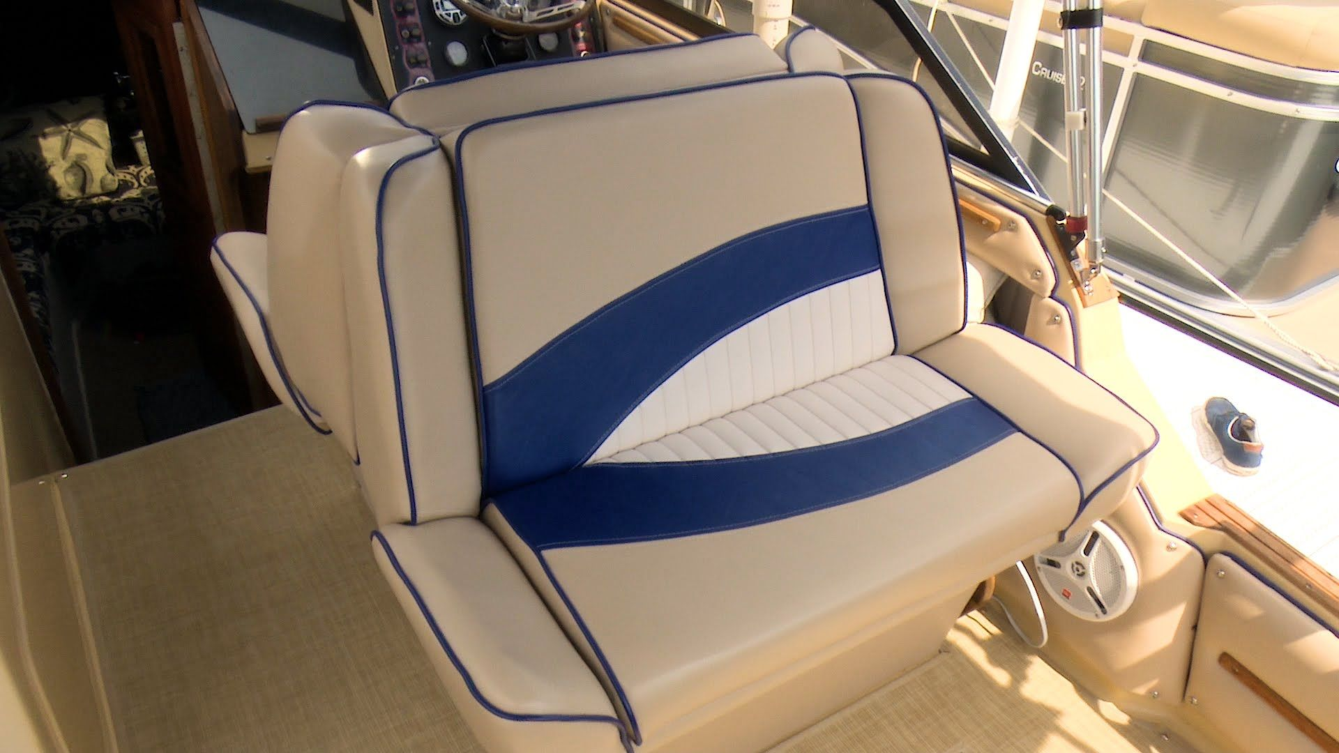 How to Reupholster a Back-to-Back Boat Lounge Seat - YouTube
