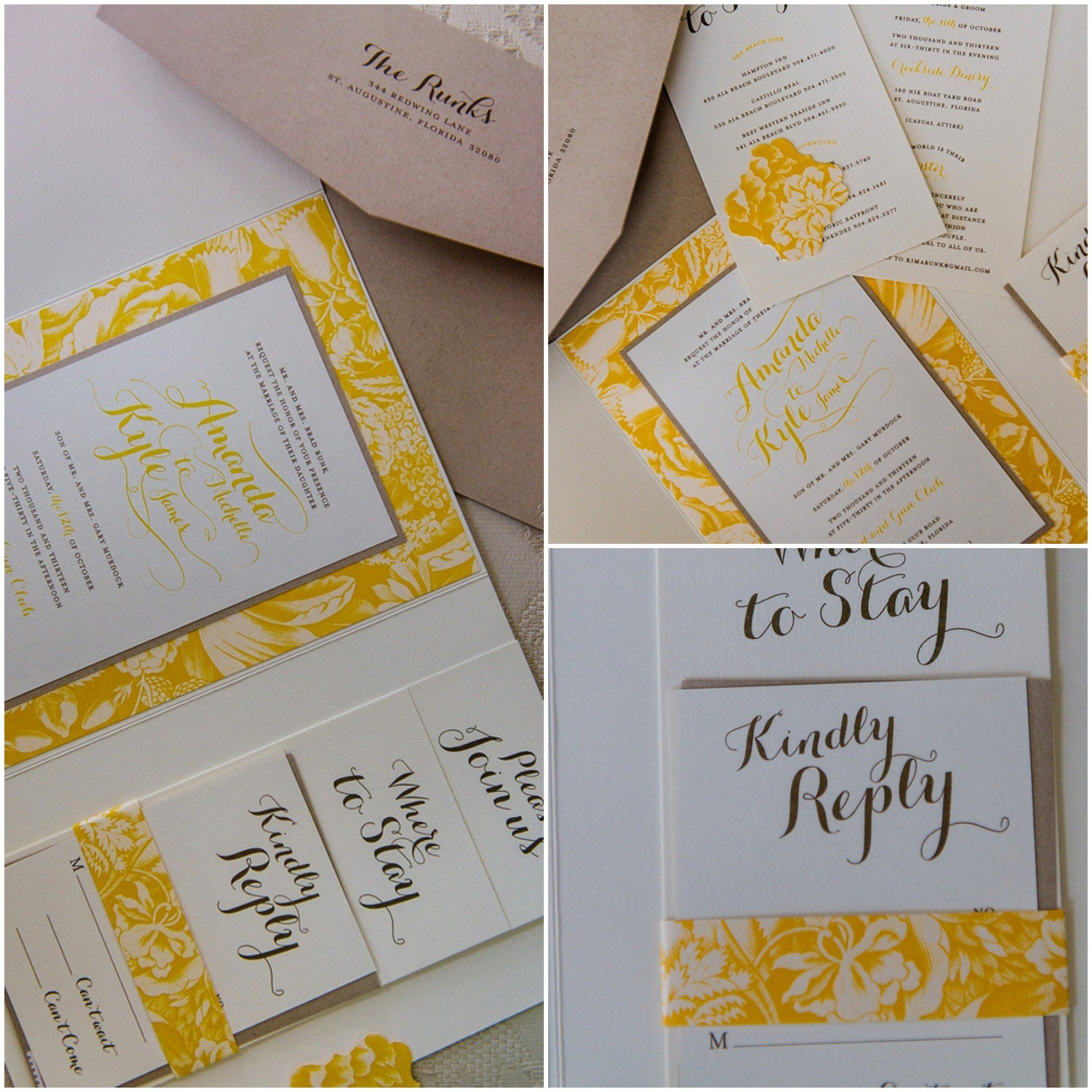 A Yellow Theme Wedding