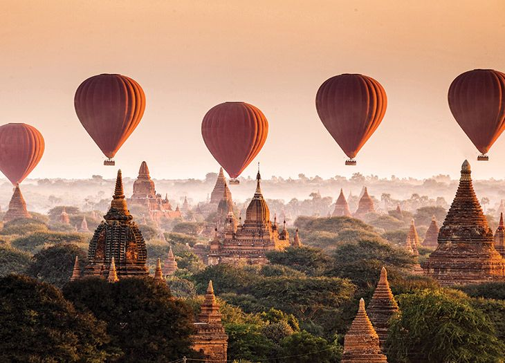 Five Best Places For A Hot Air Balloon Ride Virtuoso