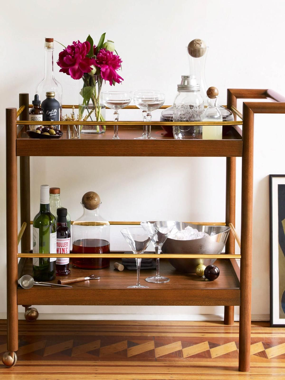 5 must know tips to style a bar cart