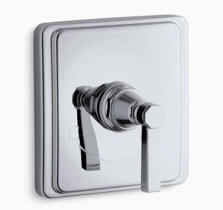 Kohler Pinstripe Pure Polished Chrome Thermostatic Shower Faucet ...