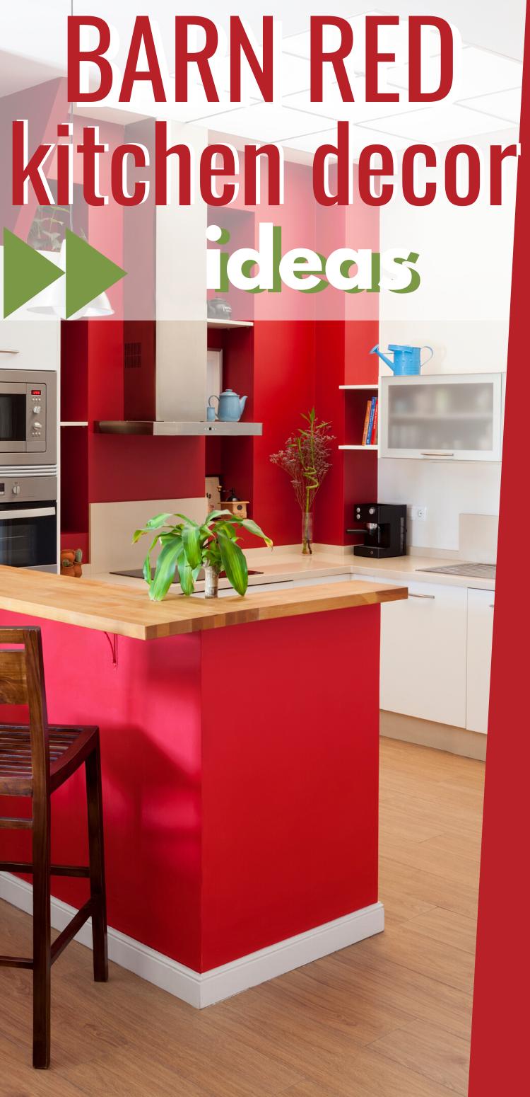 Barn Red Kitchen Decor Ideas Red Kitchen Decor Barn Red Kitchen Cabinets Red Kitchen Decor Red Kitchen Dec In 2020 Barn Red Kitchen Red Kitchen Decor Kitchen Decor