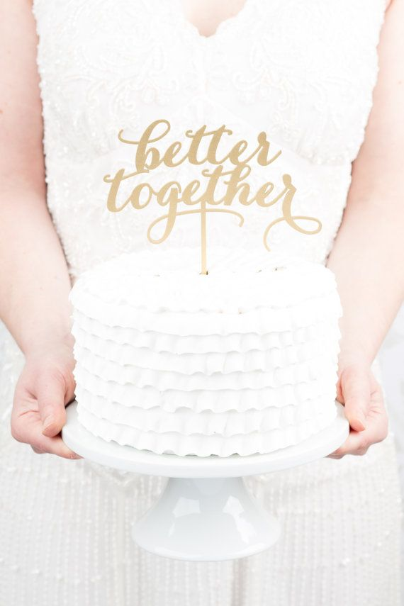 Gold Wedding Cake Topper By Better Off Wed On Etsy Www Betteroffwed Etsy Com Gold Caketopper Gold Cake Topper Wedding Wedding Cake Toppers Gold Wedding Cake