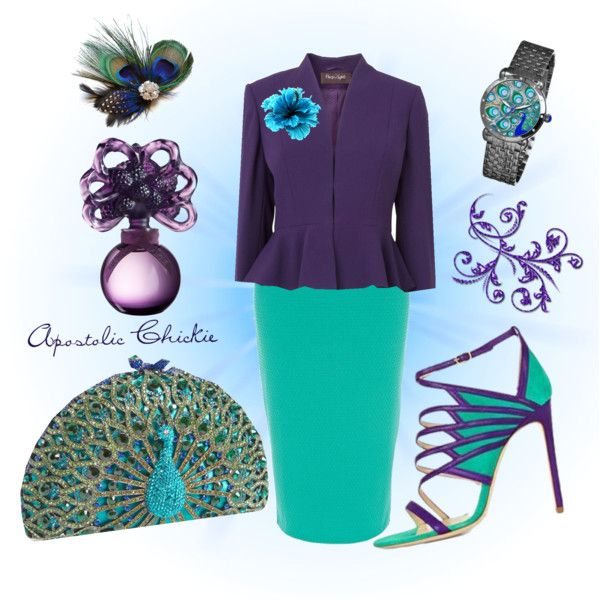 """Purple Peacock"" by apostolicchickie on Polyvore"