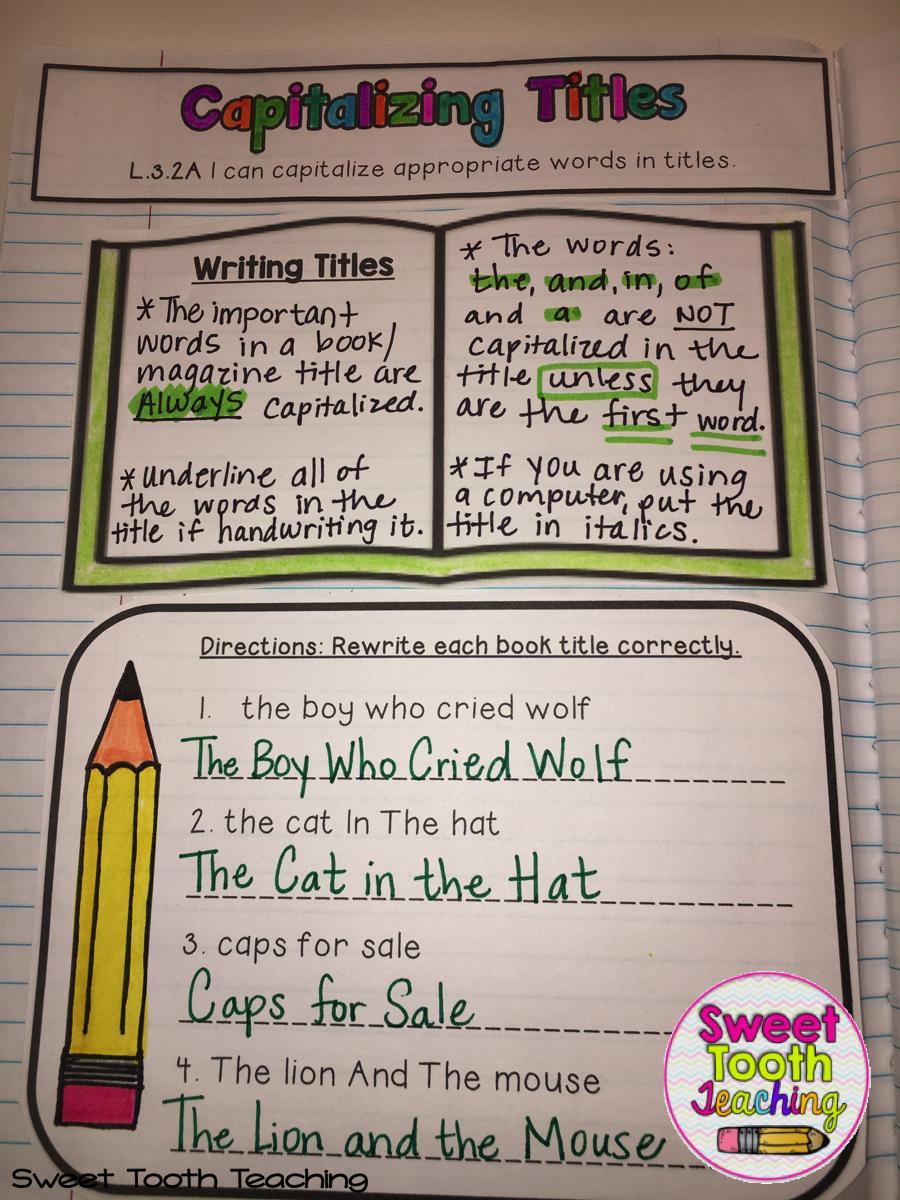 Grammar & Language Interactive Notebook Tpt