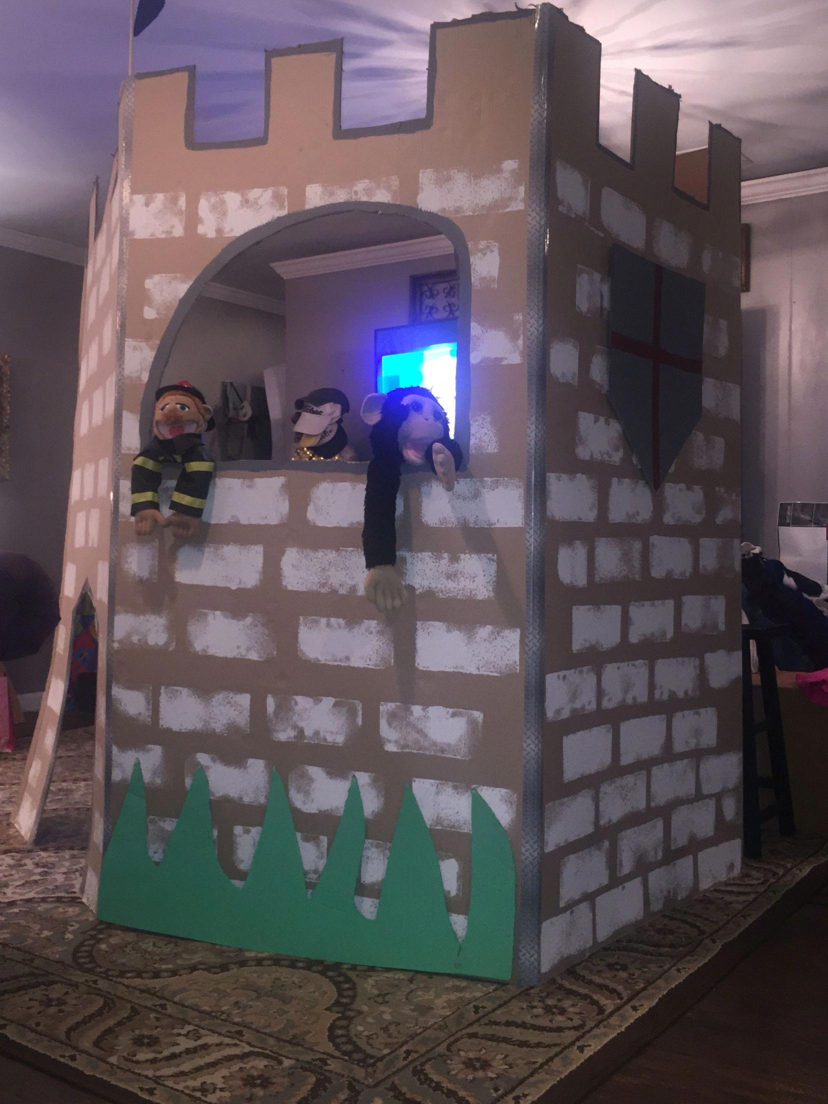 Cardboard castle and puppet theater hometheaterdiycheap