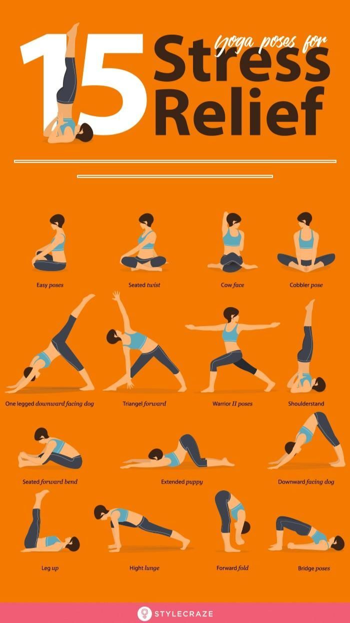 15 Yoga Poses For Stress Relief