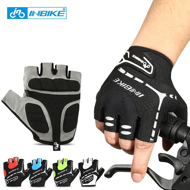 Road Biking Bicycle Gear Half Finger Mountain Bike//MTB Glove Breathable and Easy on Easy Off Gel Pad Cycling Gloves Bicycling Cycle Riding Accessory for Men//Women