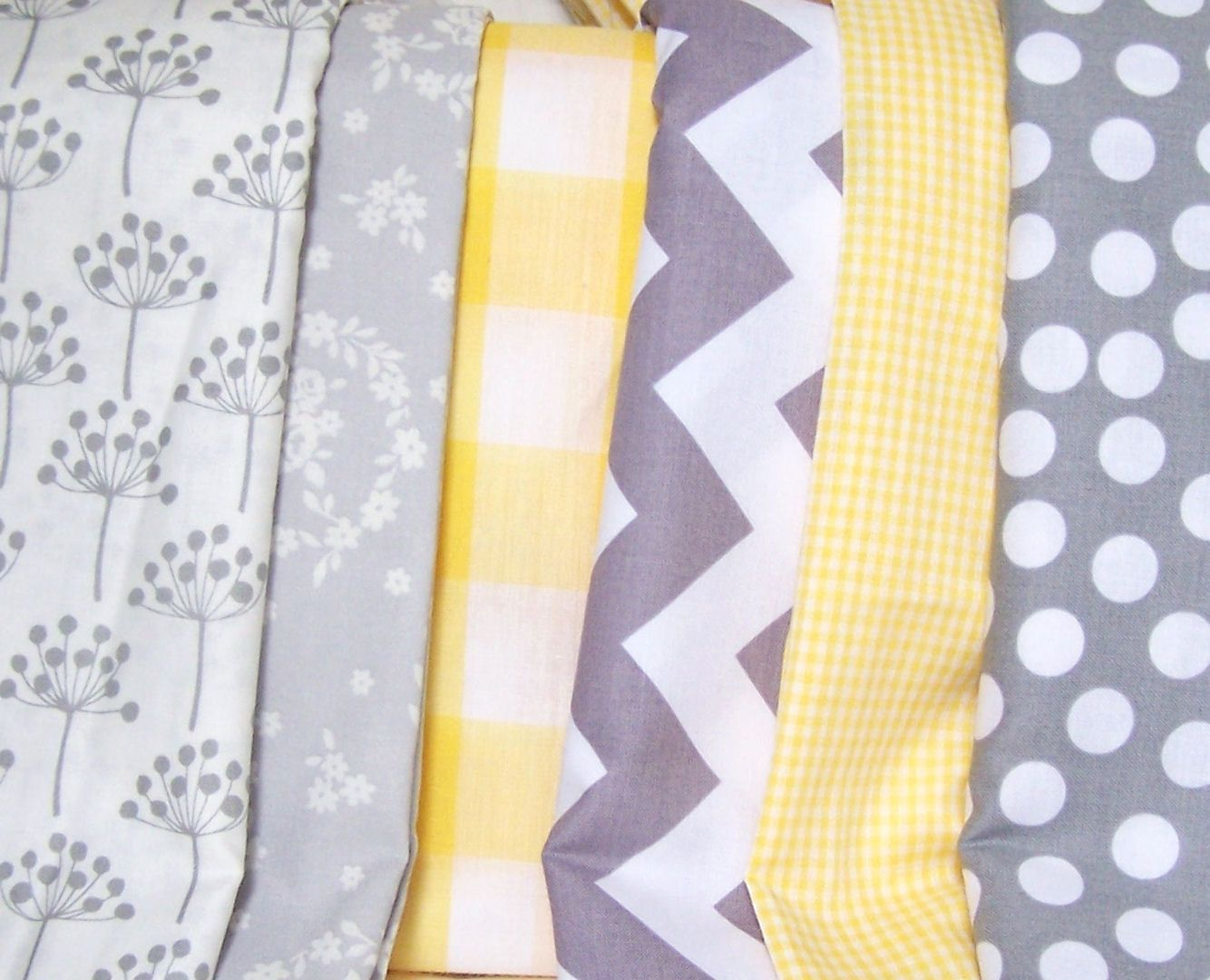 feet banners bunting pennant flags vintage yellow gingham