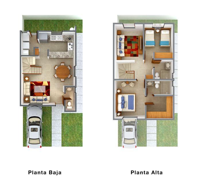 Planos de casas y plantas arquitect nicas de casas y - Planos de casas de 2 plantas ...