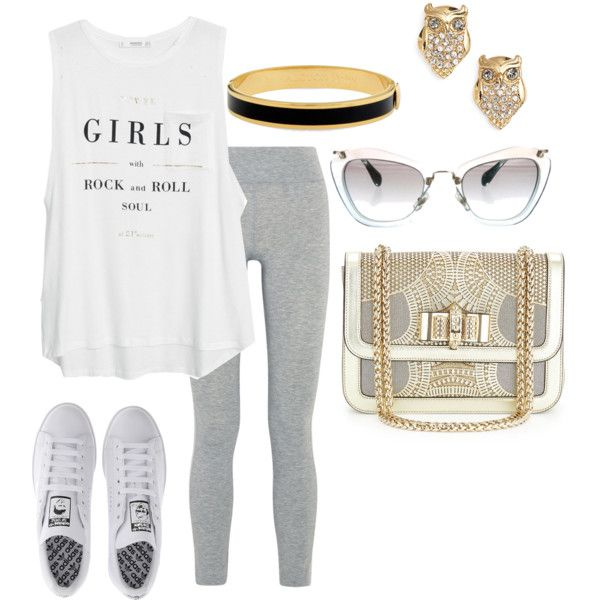 Lazy But Stylish by emmacouture2339 on Polyvore featuring MANGO, LAAIN, adidas, Christian Louboutin, Kate Spade, Halcyon Days and Miu Miu