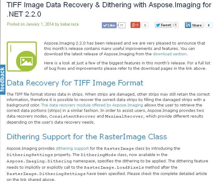 This Release Includes Support For Tiff Image Data Recovery
