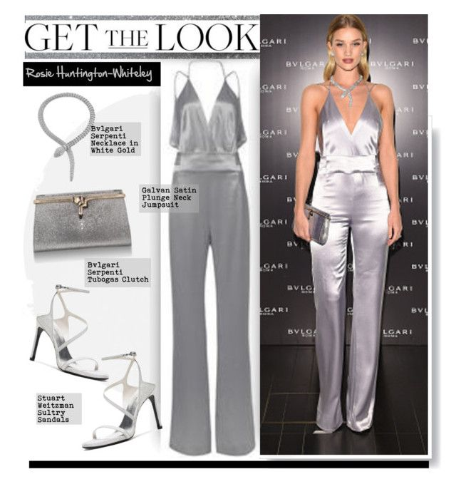"""Get the Look: Rosie Huntington-Whiteley"" by hamaly ❤ liked on Polyvore featuring GetTheLook, StreetStyle, jumpsuit, RosieHuntingtonWhiteley and waystowear"