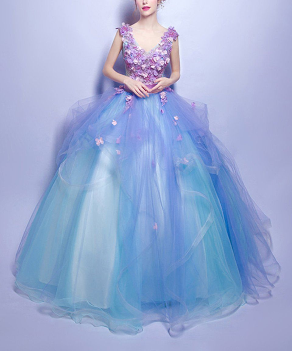 It\'s a fairy godmother gown! Take a look at this Blue & Purple ...