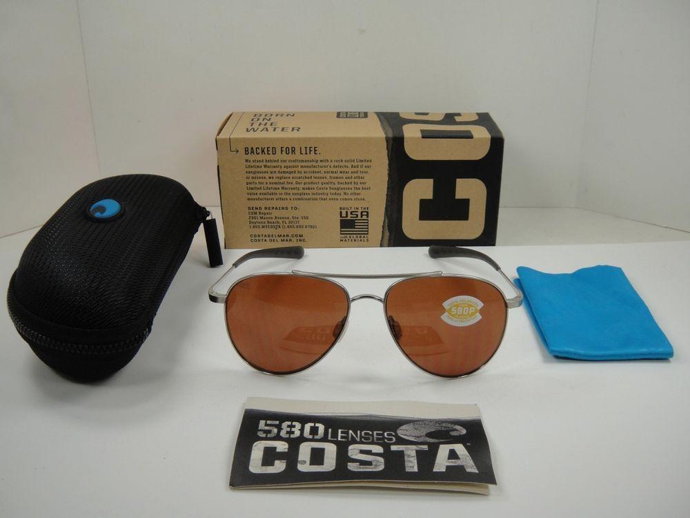 abb5ec8484434 eBay  Sponsored COSTA DEL MAR COOK POLARIZED COO21 OCP SUNGLASSES  PALLADIUM COPPER 580P LENS