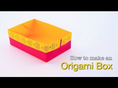 How To Make An Easy Origami Box Paper Box With A Border Origami