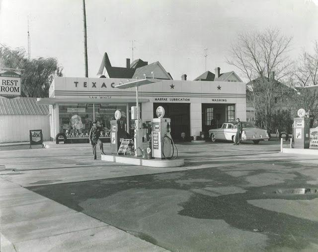 Historic Salisbury Maryland - TEXACO Gas Station (1950s