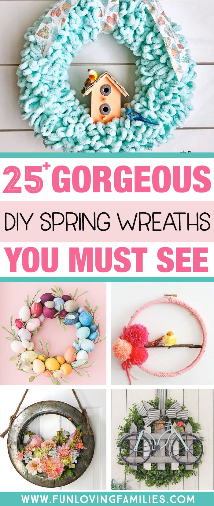 25+ Best DIY Spring Wreath Ideas (Make Your Own for 2020)