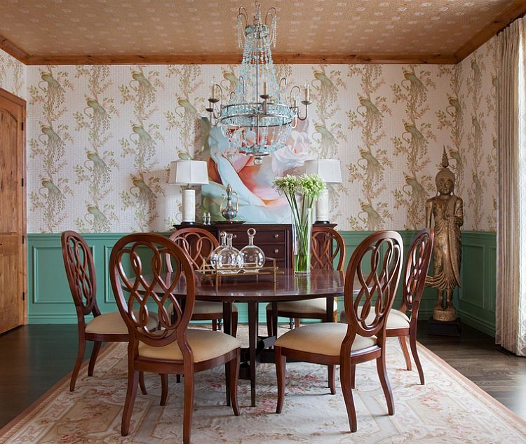 Smart color scheme in the traditional dining room - Decoist | Dining ...