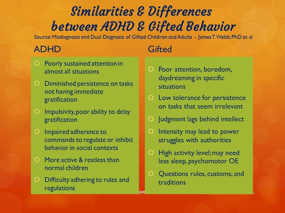 Growing Up Gifted With Adhd >> Does My Gifted Child Have Adhd Gifted Education Gifted Kids