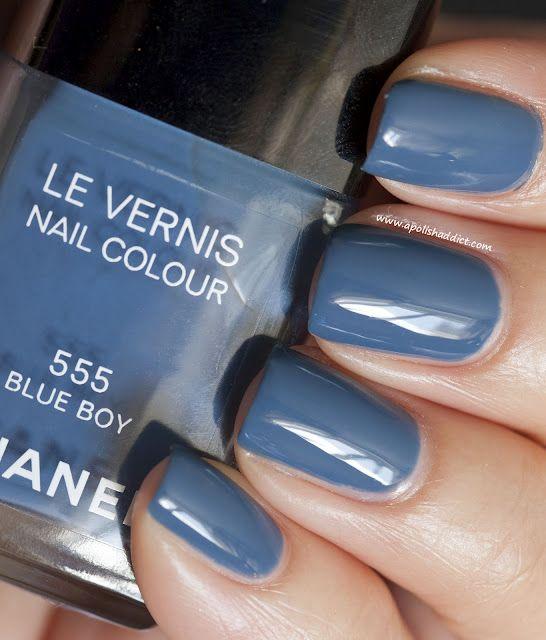 Chanel Blue Boy...gorgeous slate/denim colored polish   Nails ...