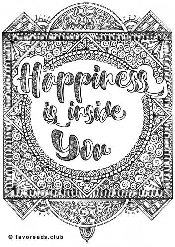 Free Printable Coloring Pages | Free printable, Happiness and ...
