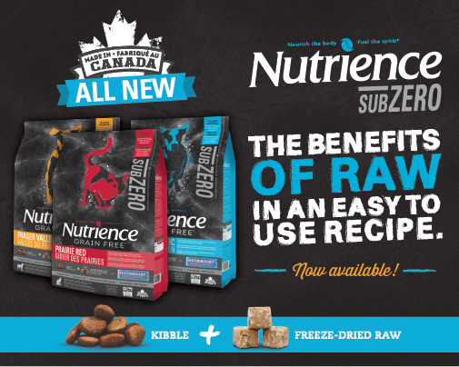 ALL NEW! Check out Nutrience SubZero kibble + NUTRIBOOST