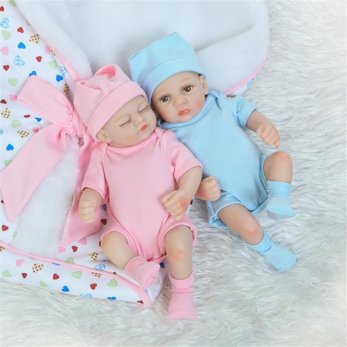 10/'/' Vinyl Silicone Reborn Baby Doll Girl+Boy Handmade Lifelike Dolls Twins US