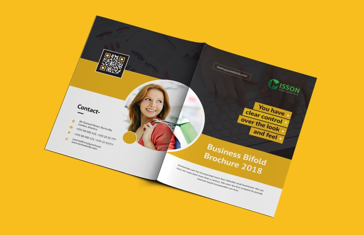 Bi Fold Brochure Template Ai Eps A4 Brochure Templates