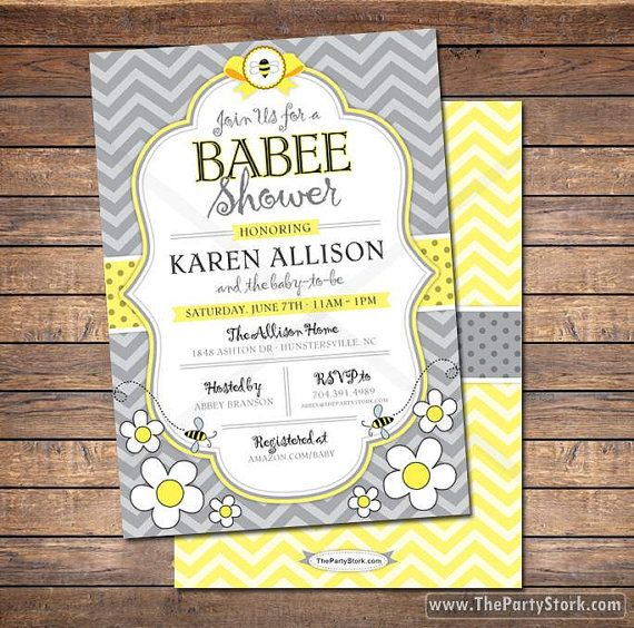 Bee Baby Shower Invitation Printable Mommy To Invitations FREE