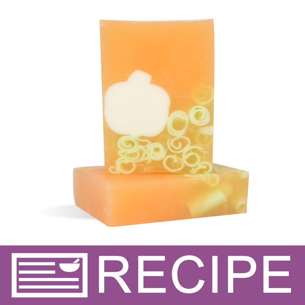 White Pumpkin Patch MP Loaf Soap Recipe | Fall Recipes and