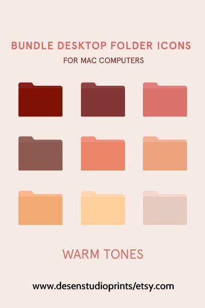 Warm tones Folder Icons for Mac Computers Mac desk