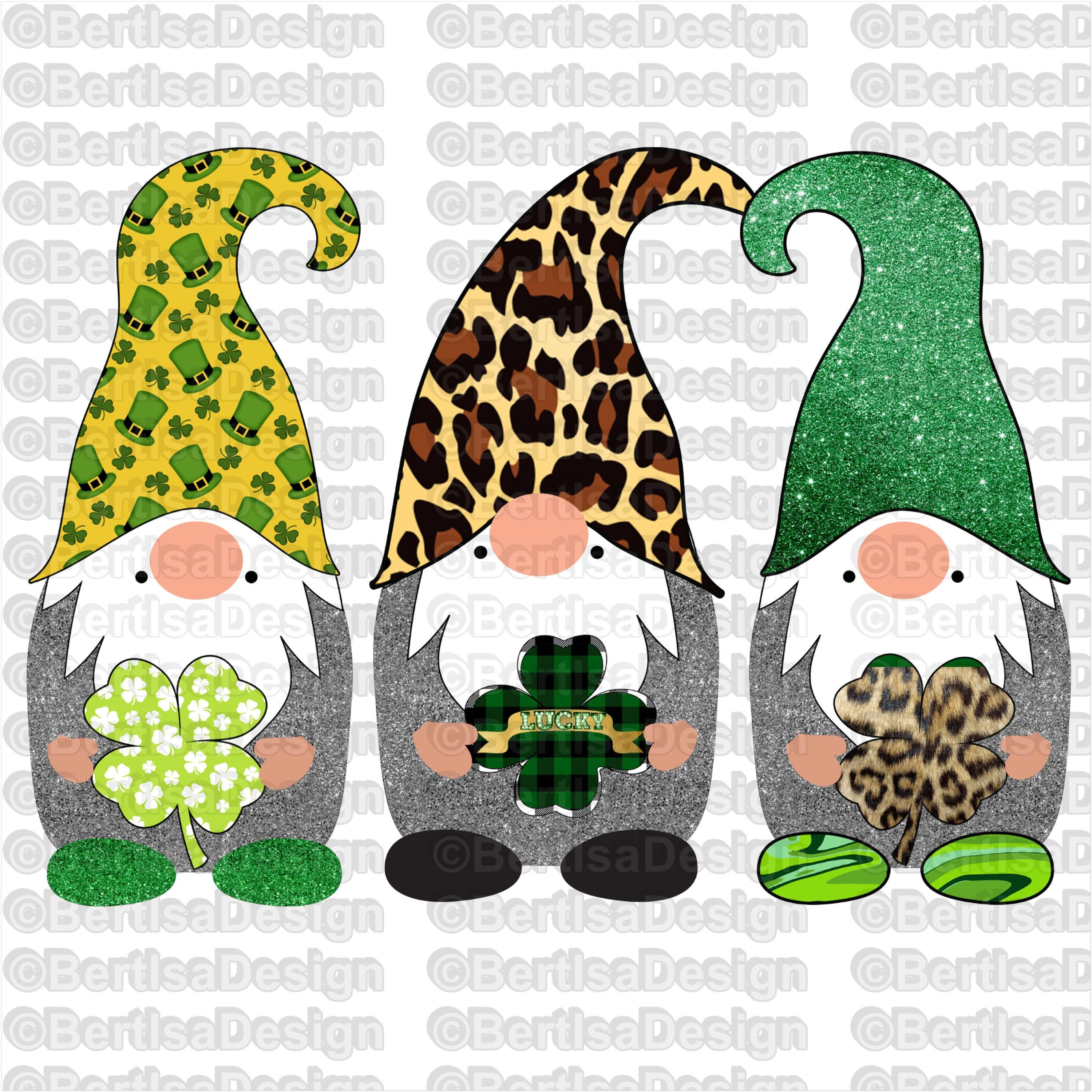 Download St. Patrick's Day Gnomes Sublimation, Lucky Gnomes , PNG ...