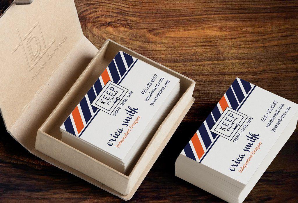 KEEP Collective Business Card Template - Independent Designer Business – digitaldetours
