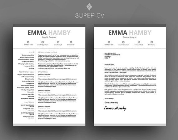 CV, template, clean resume, resume template word, modern resume - instant resume builder