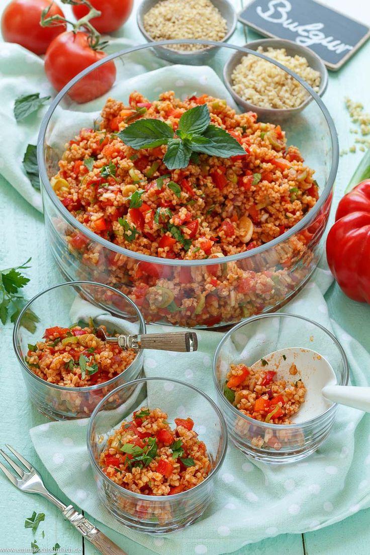 Schneller und einfacher Bulgursalat - emmikochteinfach #foodblogs