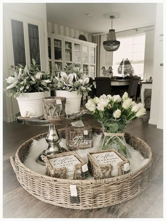 45 Pretty Decorating Ways to Style Your Coffee Table images