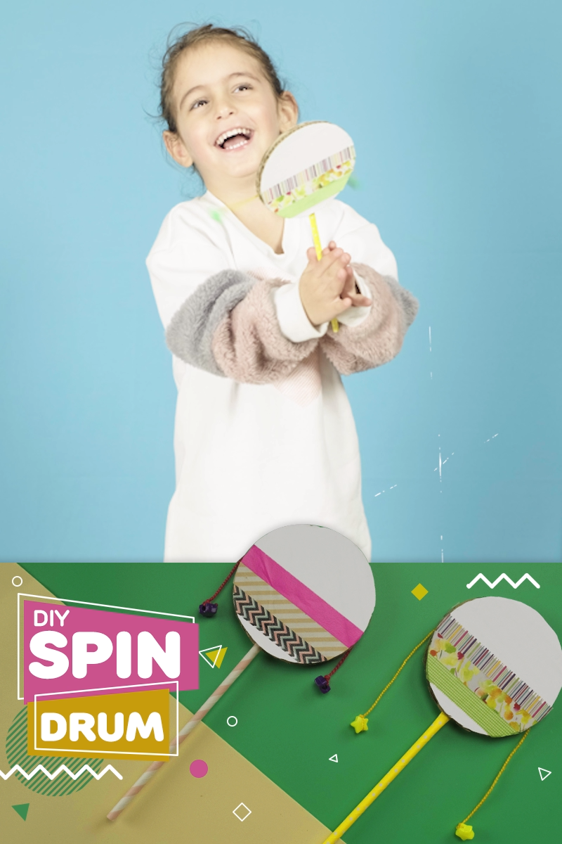 DIY Spin Drum - A Great Musical Craft and Activity