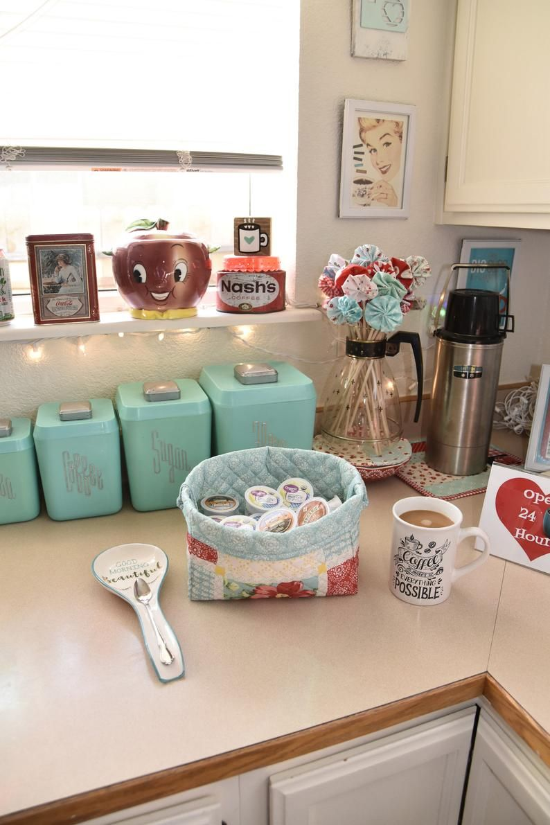 Pioneer Woman Decor~Farmhouse Kitchen~Farmhouse Decor~Fabric Bin~Fabric Basket~Fabric Storage~Kitchen Storage Basket~Vintage Floral Decor