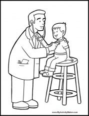 Doctor Coloring Pages For Kids Coloring Pages Coloring For Kids