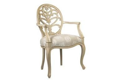 dining arm chair french heritage maison briance ivory mahogany new