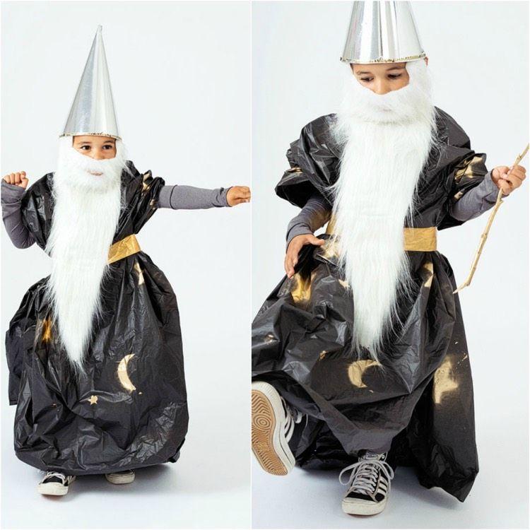 idée de déguisement Halloween enfant - un costume de magicien à confectionner soi-même ...
