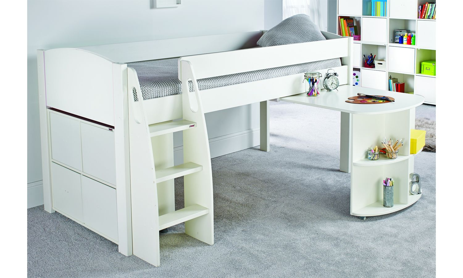 Stompa UNO S 1AD Midsleeper with Pull Out Desk and Cube in ...