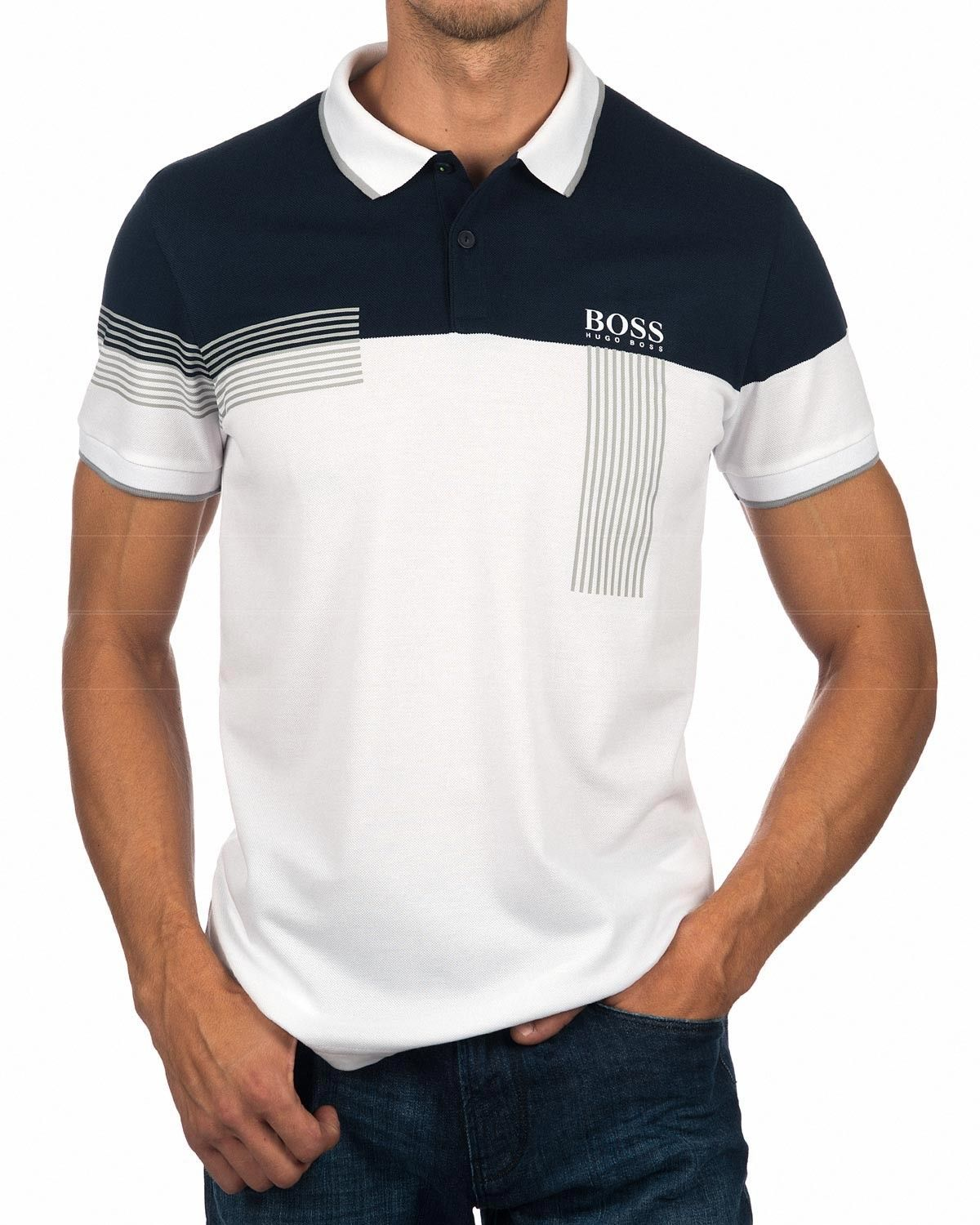 8d202604191 Polos Hugo Boss Paddy Pro - Azul   Blanco in 2019