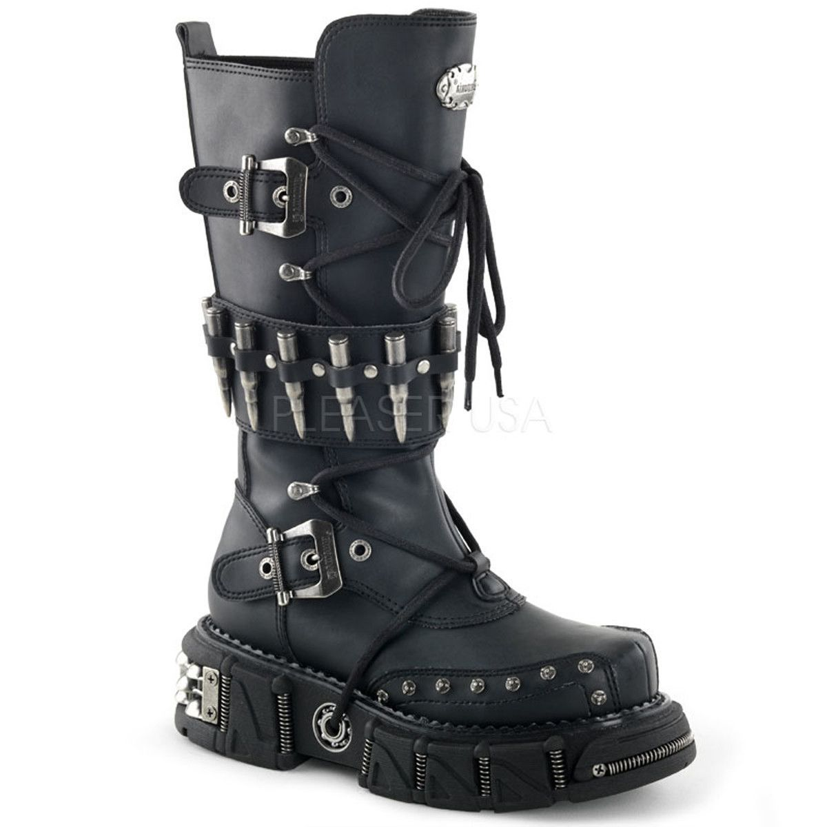 DEMONIA DMA-3002 Men's Black Pu Vegan Boots